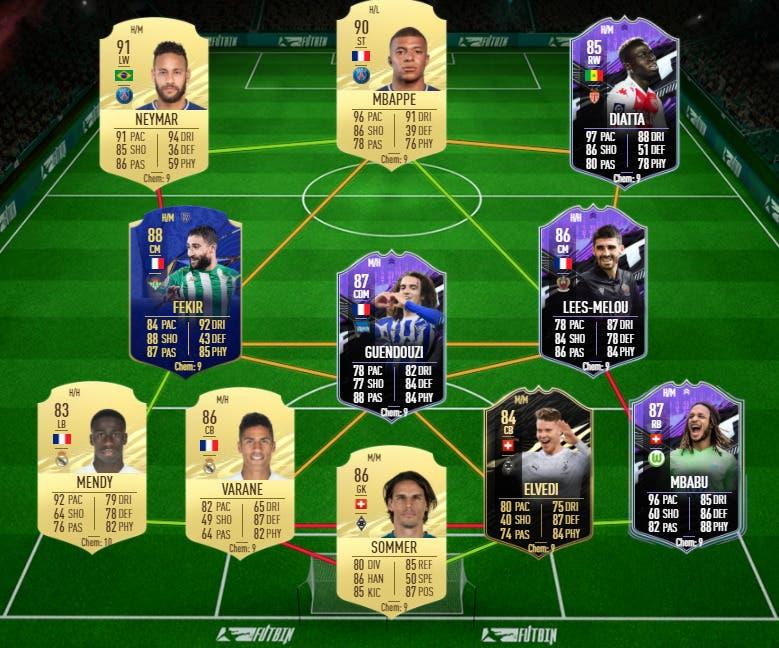 FIFA 21 Ultimate Team equipo competitivo y de nivel FUT Champions y Division Rivals