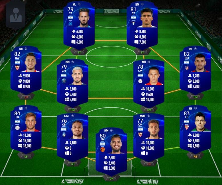 FIFA 21 Ultimate Team Icon Swaps 2 tokens offline plantilla Argentina UCL precio