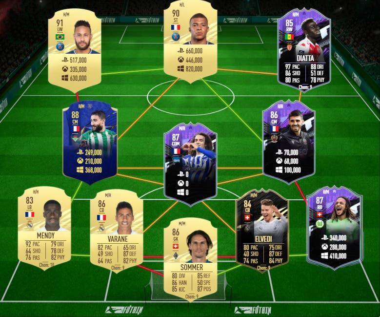 FIFA 21 Ultimate Team equipo competitivo y de nivel FUT Champions y Division Rivals precios
