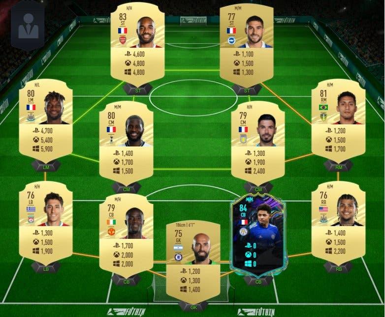 FIFA 21 Ultimate Team plantilla barata para conseguir a Fofana Future Stars y Rúben Neves Jugador de Liga precios