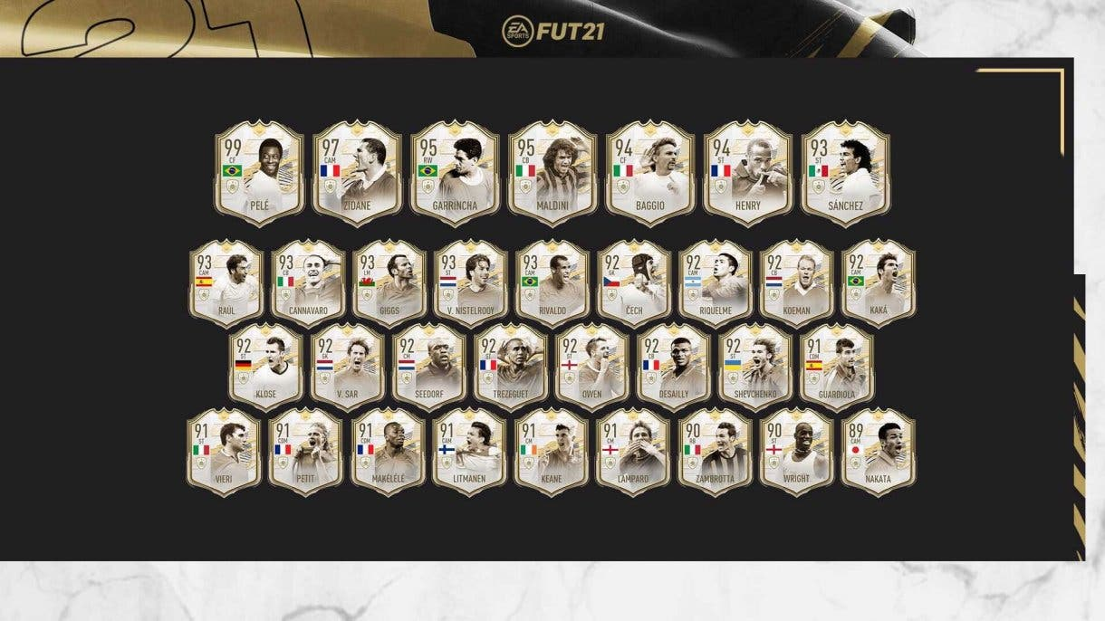 FIFA 21 Ultimate Team Iconos Moments tercera tanda ya disponibles, hasta el final de temporada.