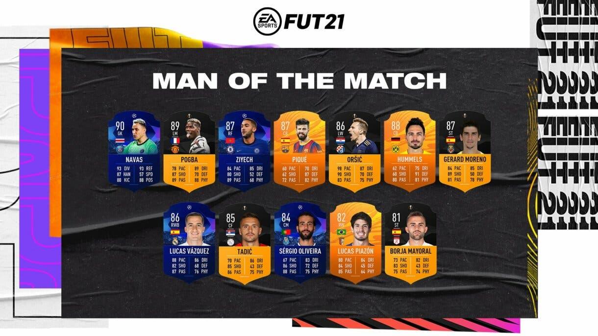 Nueva tanda de cartas MOTM. FIFA 21 Ultimate Team
