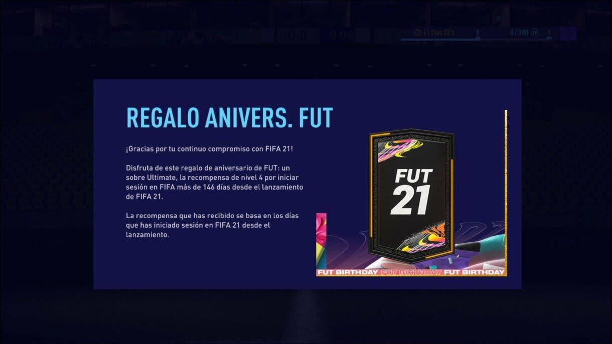 FIFA 21 Ultimate Team sobre gratuito por iniciar sesión en FUT Birthday