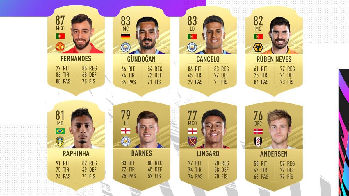 FIFA 21 Ultimate Team Nominados POTM Febrero Premier League