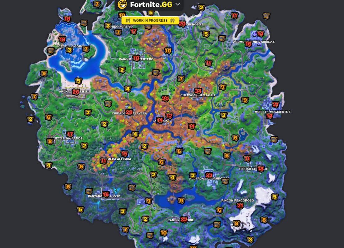 fortnite mapa cofres