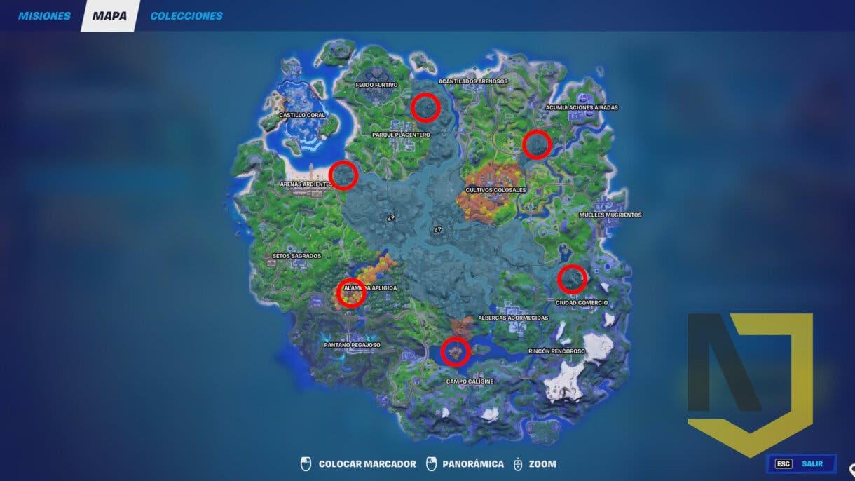 fortnite mapa guardianes
