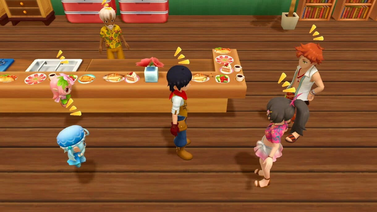 Harvest Moon Un Mundo Unico personajes playa