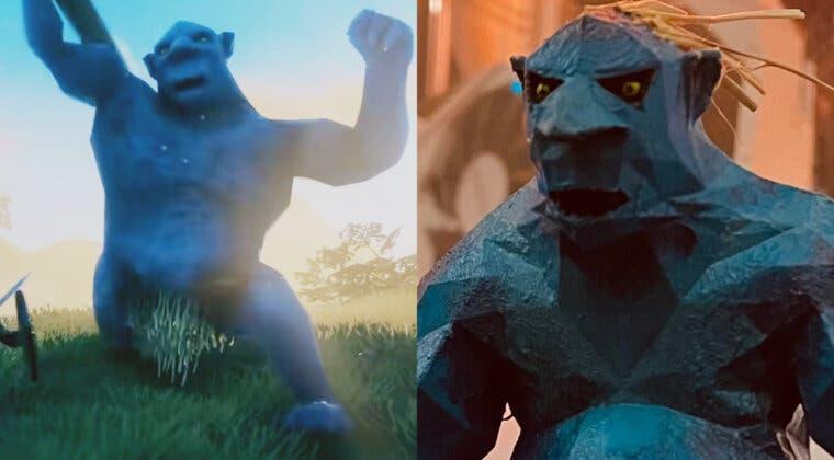 Imagen de Un jugador de Valheim crea una detallada figura de un troll en la vida real