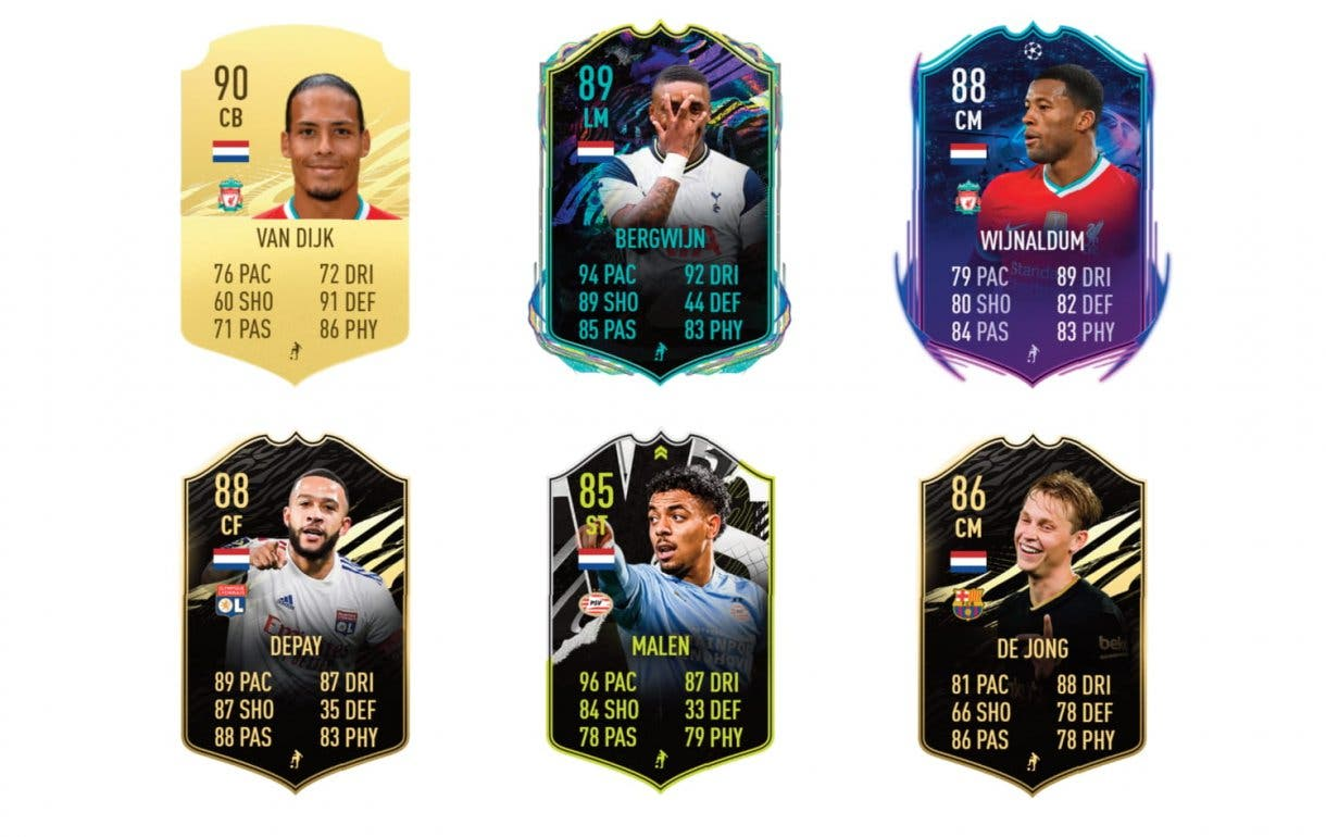 FIFA 21 Ultimate Team Leroy Fer What If links naranjas