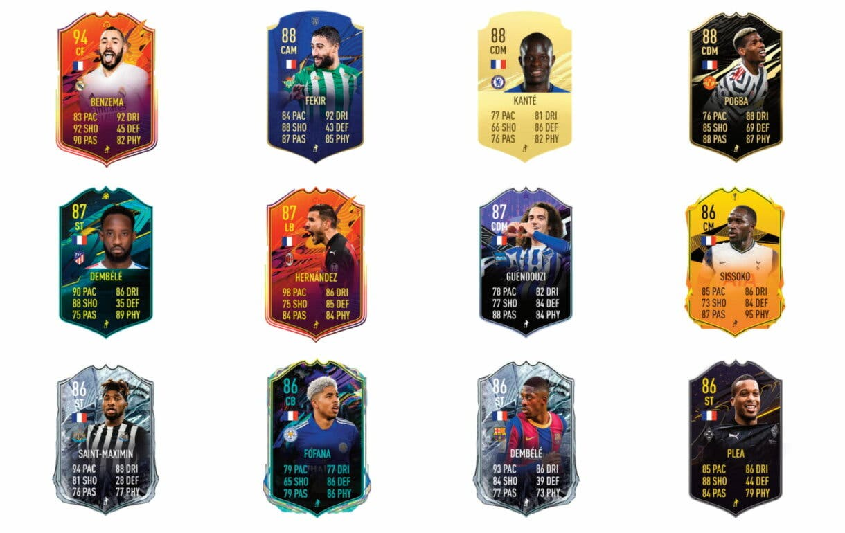 FIFA 21 Ultimate Team Kylian Mbappé POTM links naranjas