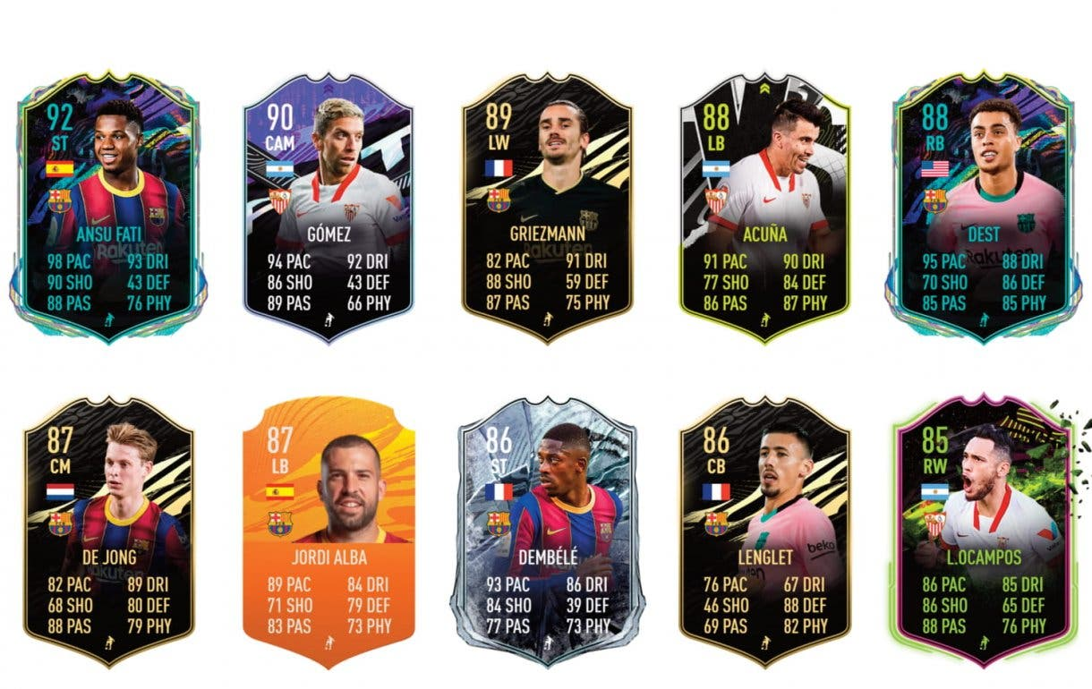 FIFA 21 Ultimate Team Leo Messi POTM links verdes.
