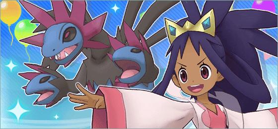Pokemon Masters EX Iris Campeona y Hydreigon
