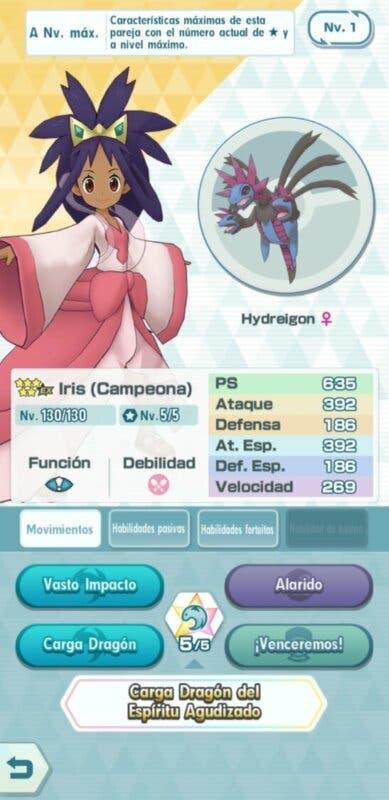 Pokemon Masters EX Iris y Hydreigon