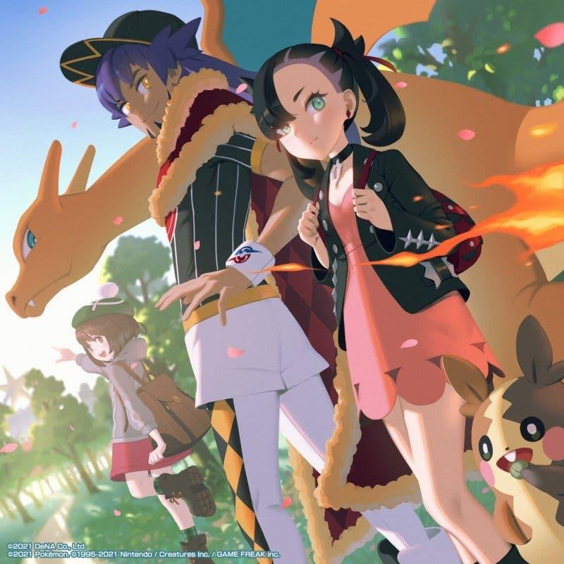 Pokemon Masters EX Lionel Roxy Gloria arte