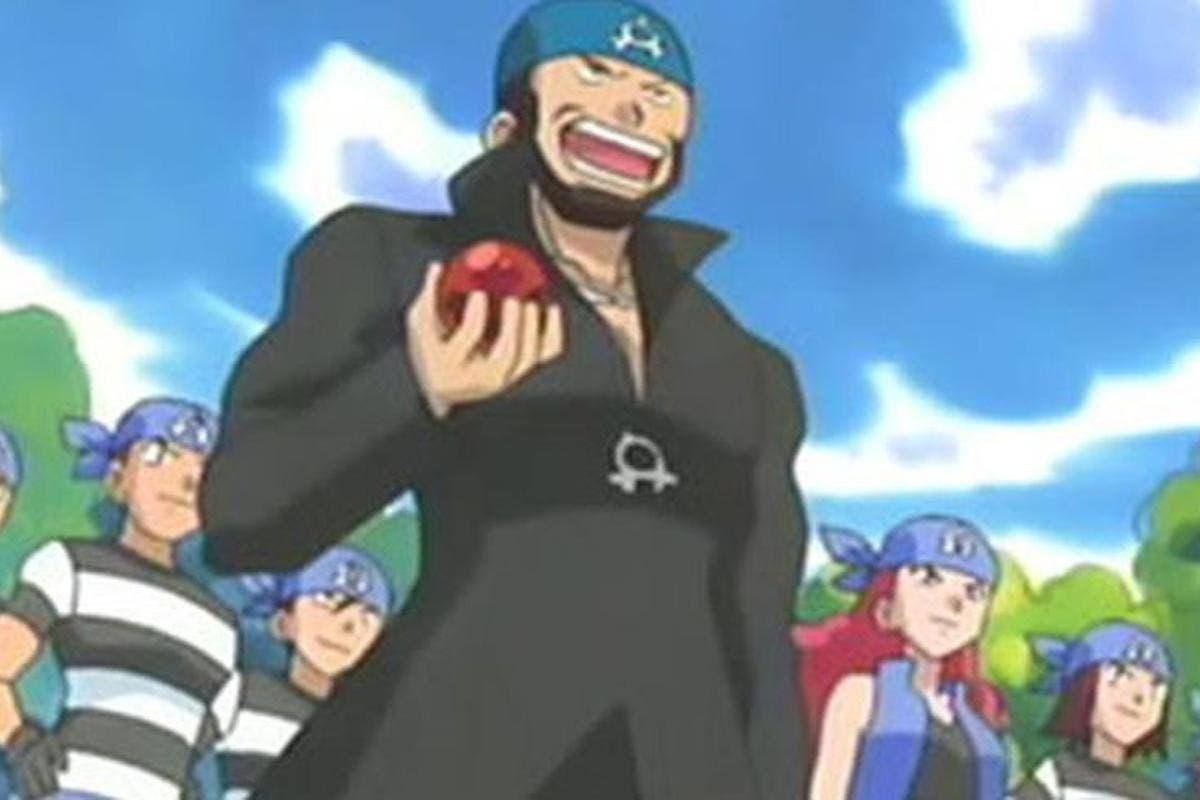 Team Aqua anime de Pokemon