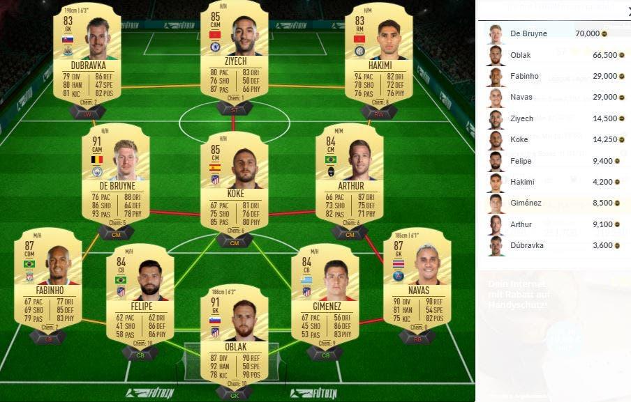 FIFA 21 Ultimate Team Solución SBC Del Piero Icono