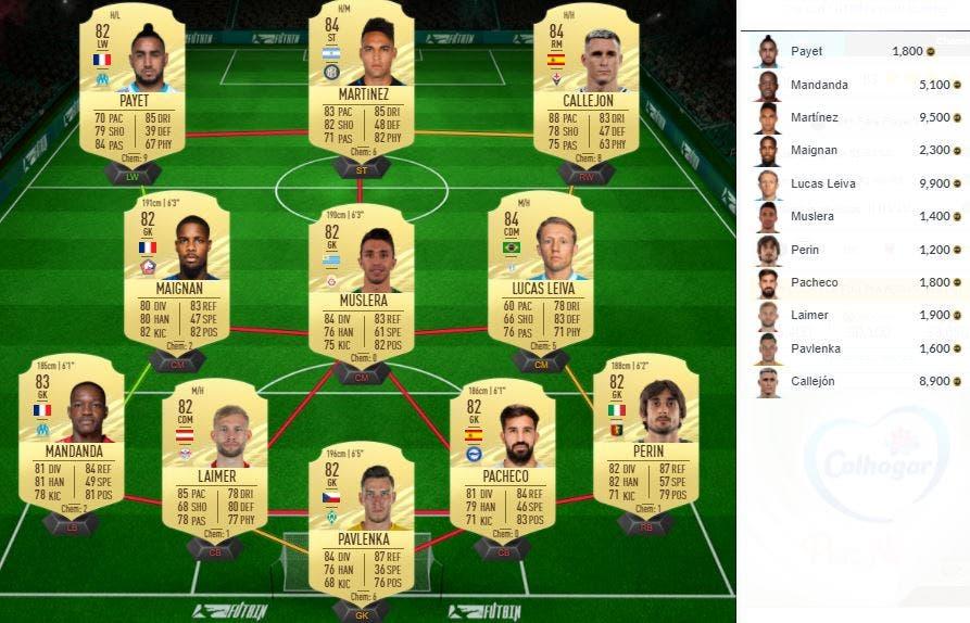 FIFA 21 Ultimate Team SBC Partidos de Marquesina 22-04-2021 Elección de Jugador Único 84+