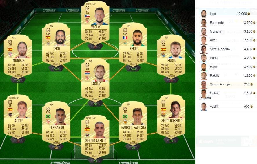 FIFA 21 Ultimate Team SBC Benzema POTM Marzo LaLiga Santander