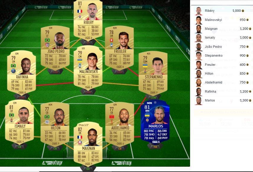 FIFA 21 Ultimate Team SBC Partidos Clave de la UEFA Mejora de Icono