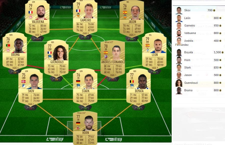 FIFA 21 Ultimate Team SBC Ligue 1 Doble Mejora 81+