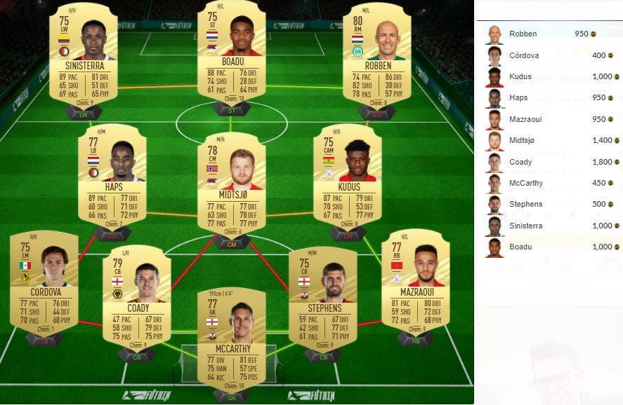 FIFA 21 Ultimate Team SBC Desafío Premier League