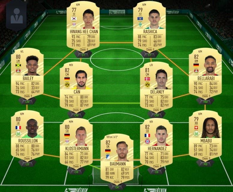 FIFA 21 Ultimate Team Guía Niederlechner Jugador de Liga Bundesliga
