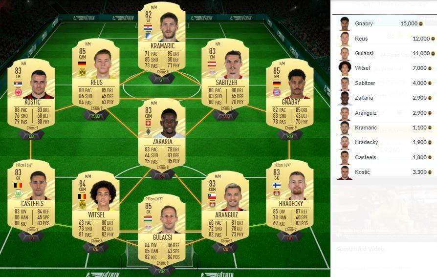FIFA 21 Ultimate Team SBC Sarr TOTS
