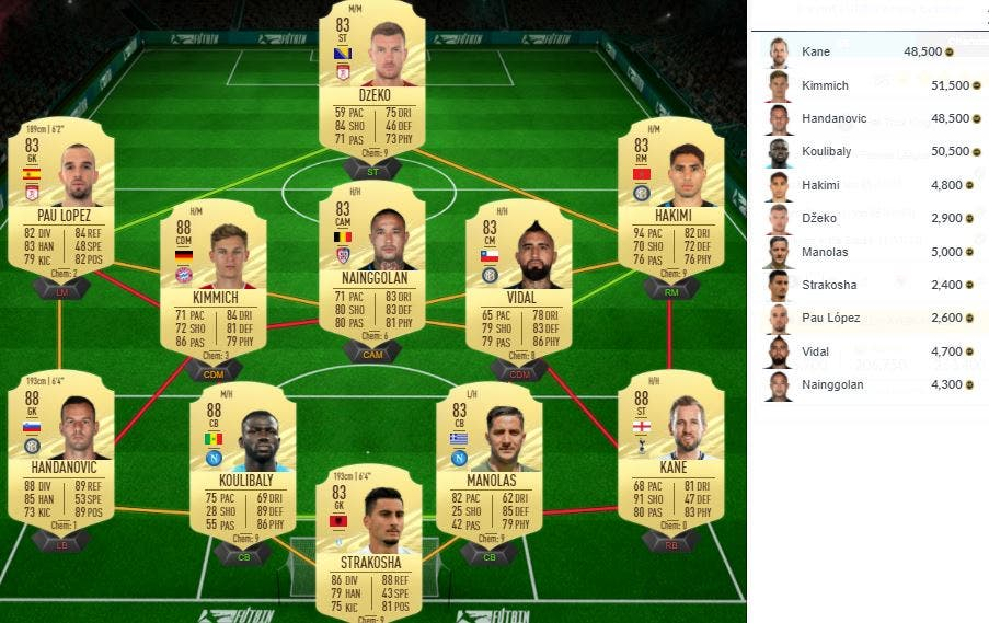 FIFA 21 Ultimate Team SBC Agüero EOAE