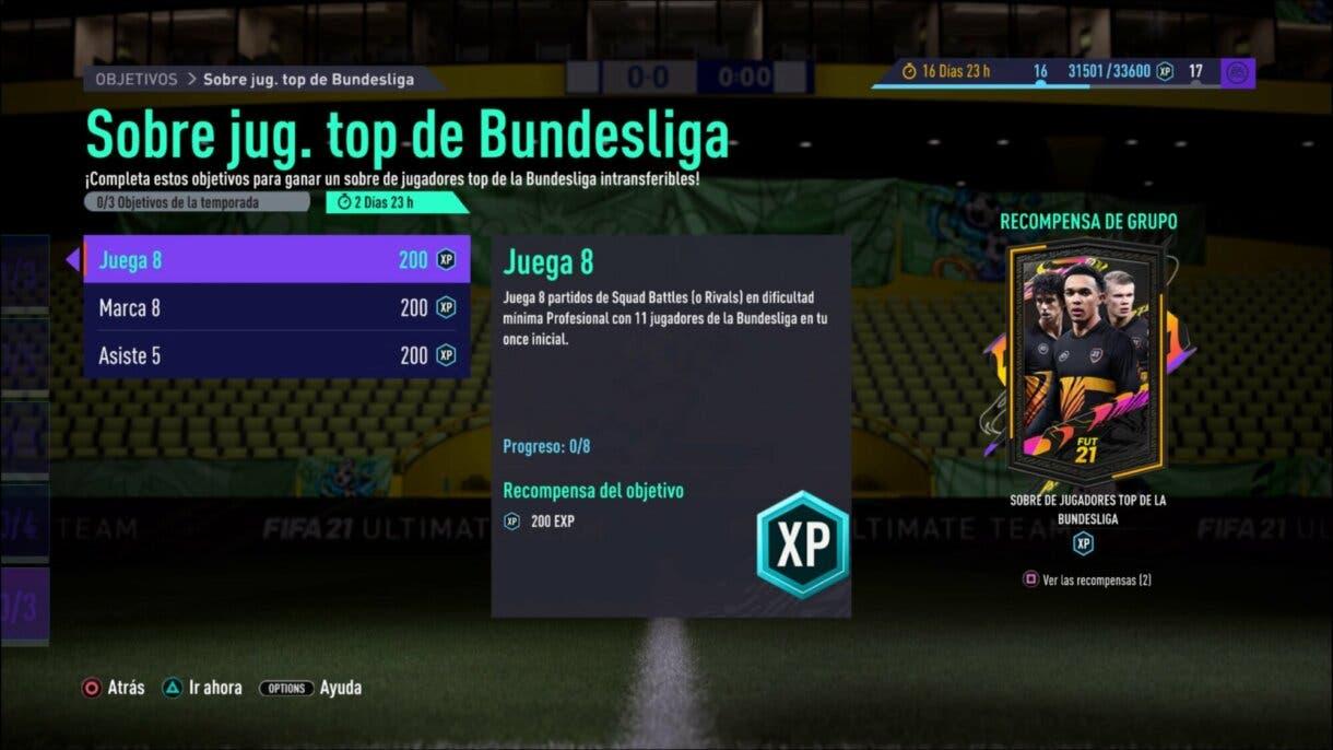 FIFA 21 Ultimate Team sobre gratuito Bundesliga para el TOTS