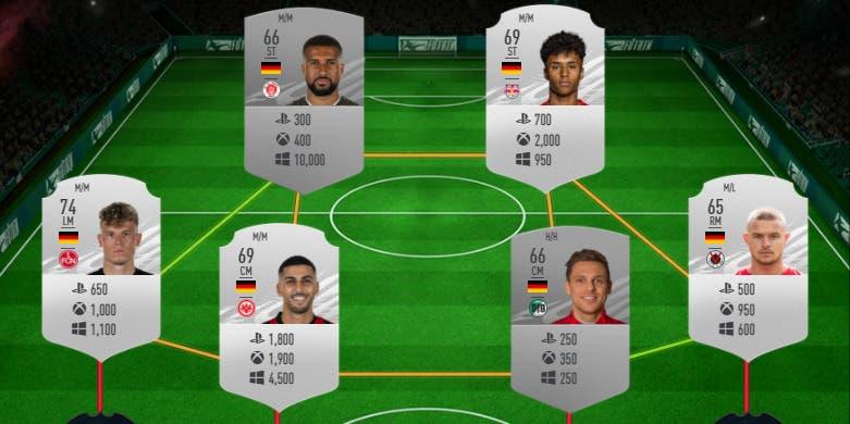 FIFA 21 Ultimate Team plantilla plata Alemania Megafiesta Megasobre gratuito precio