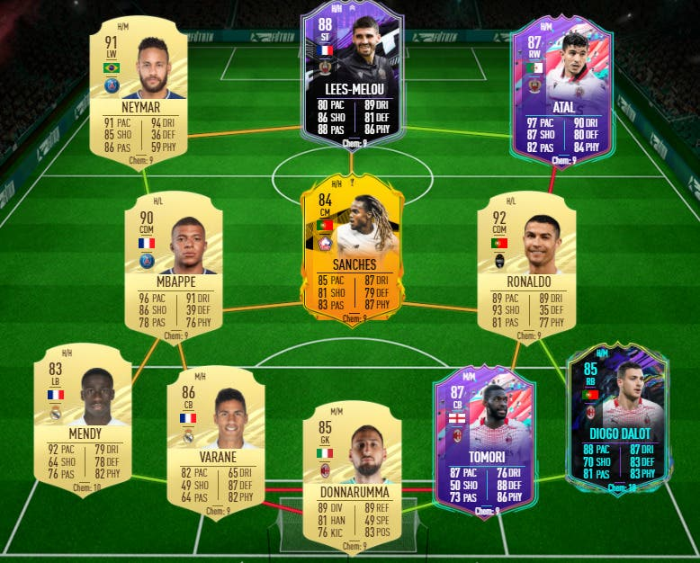 FIFA 21 Ultimate Team equipo FUT Champions TOTS Cristiano Ronaldo, Mbappé, Neymar y Atal FUT Birthday