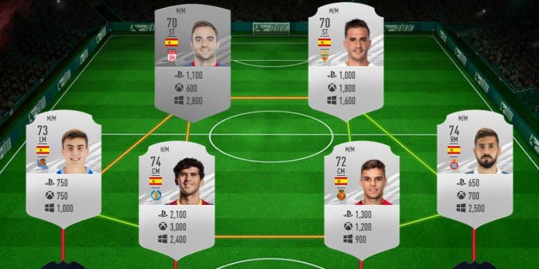 FIFA 21 Ultimate Team plantilla plata España Megafiesta Megasobre gratuito precio