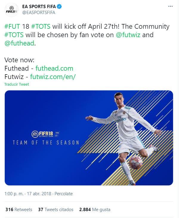 FIFA 21 Ultimate Team filtrada la fecha del TOTS