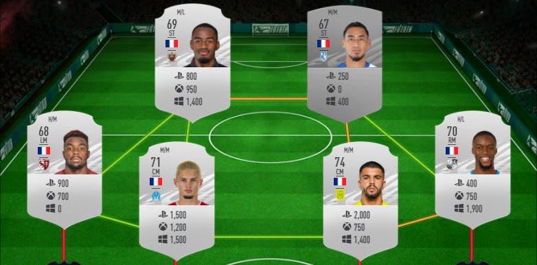 FIFA 21 Ultimate Team plantilla plata Francia precio Megafiesta Megasobre gratuito