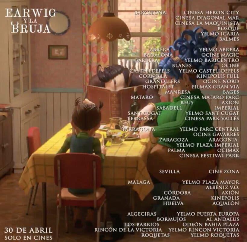 Earwig y la Bruja cines estreno 2