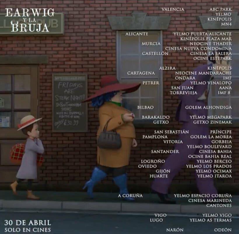 Earwig y la Bruja cines estreno 3