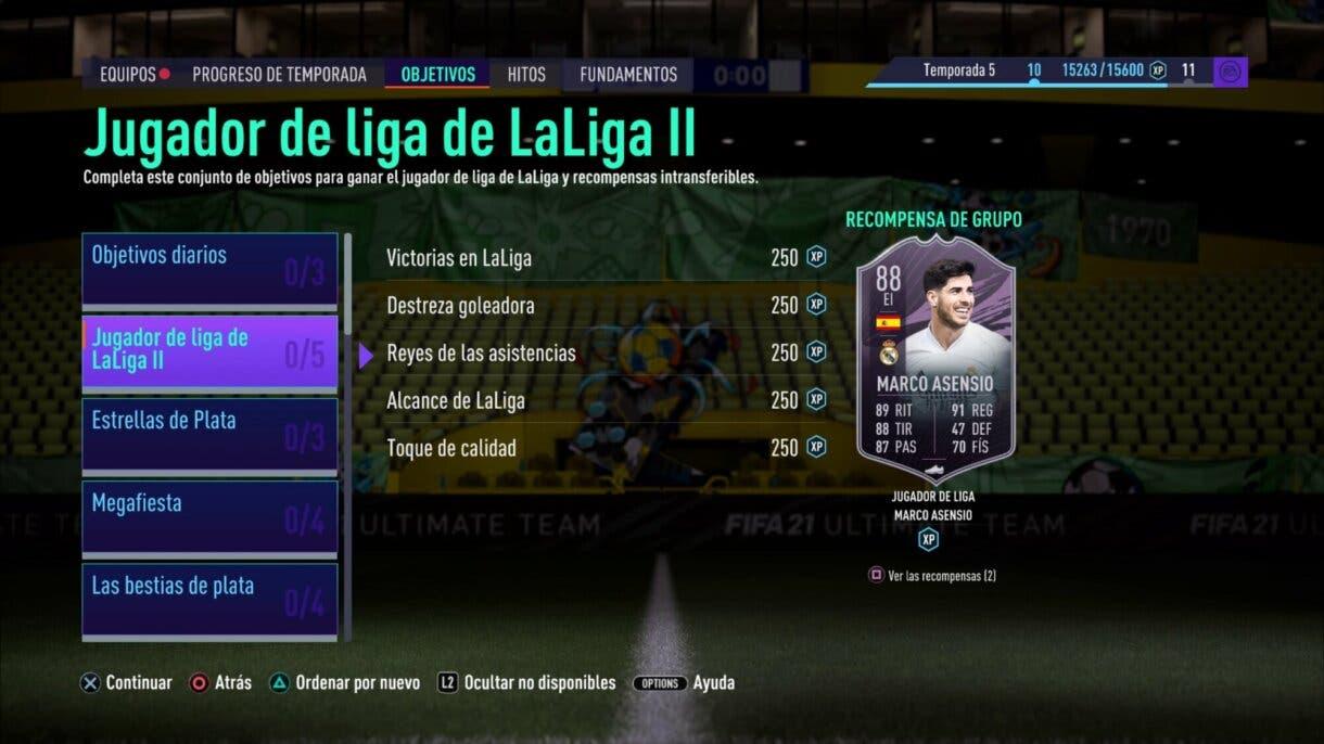 FIFA 21 Ultimate Team FUT Player Days Marco Asensio Jugador de Liga