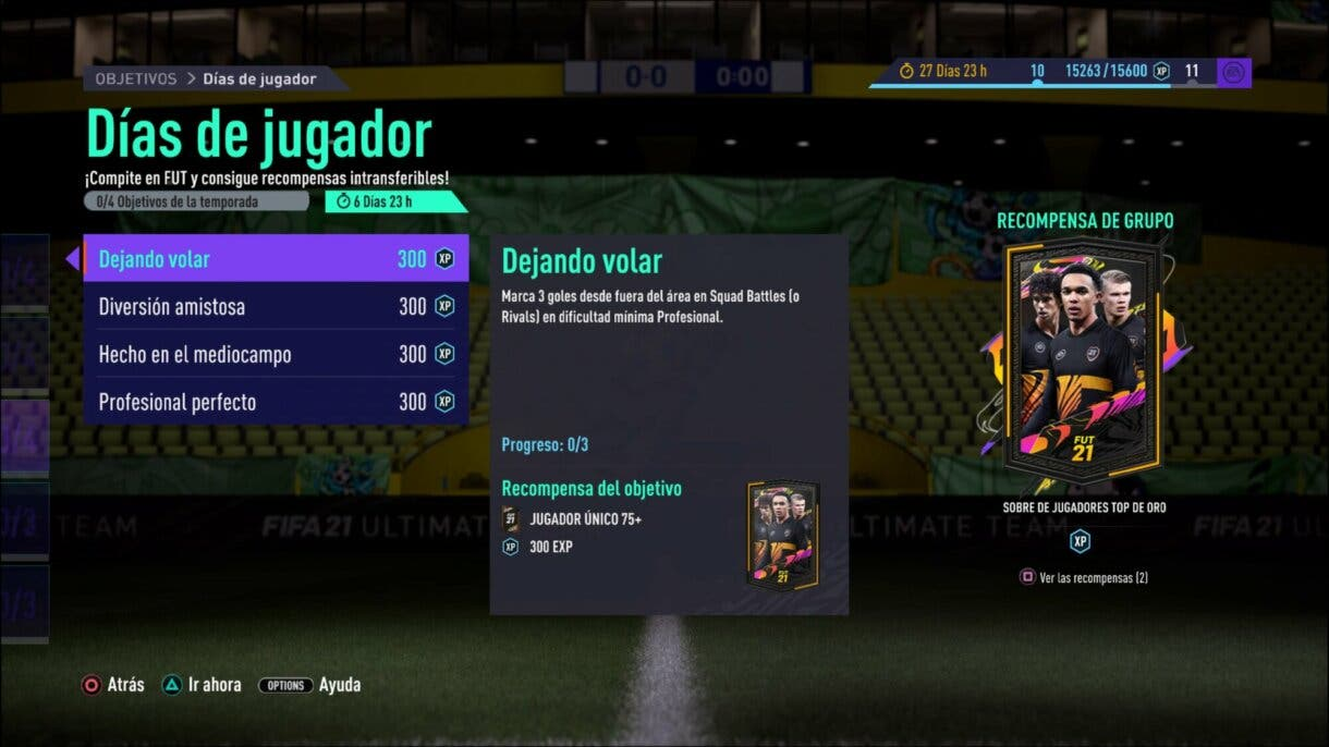 FIFA 21 Ultimate Team FUT Player Days consigue el pack gratuito de objetivos