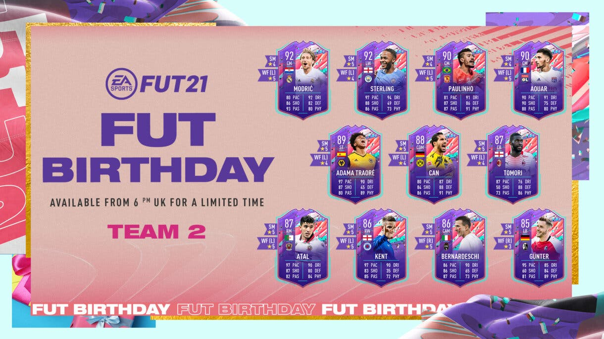 Segundo equipo FUT Birthday. Disponible en sobres hasta el 9 de abril. FIFA 21 Ultimate Team