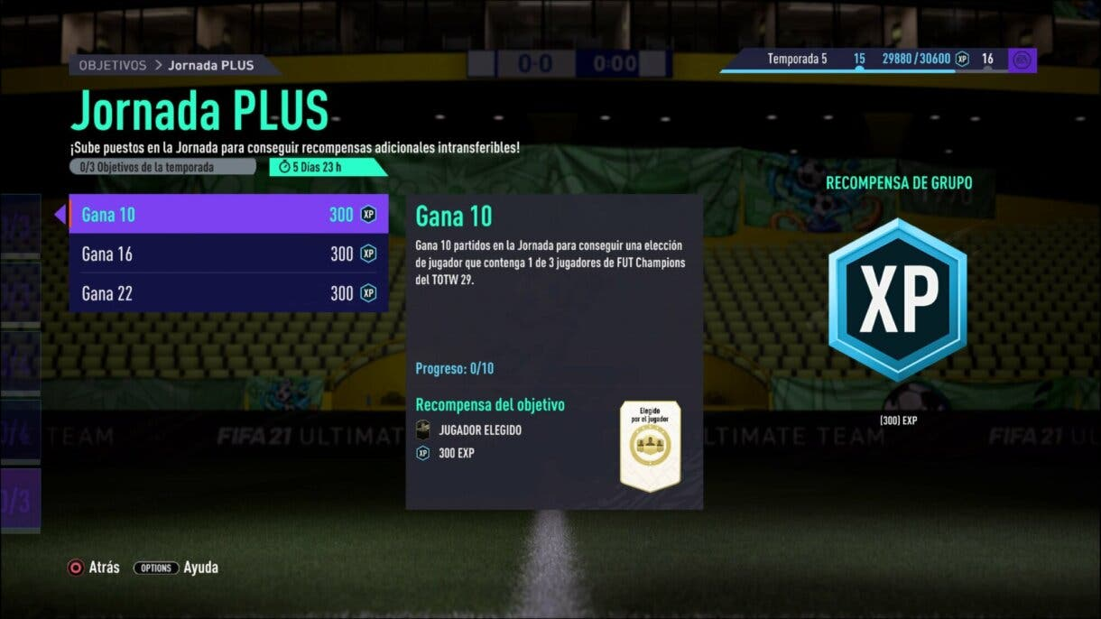 FIFA 21 Ultimate Team objetivos Jornada PLUS FUT Champions player picks extra gratuitos
