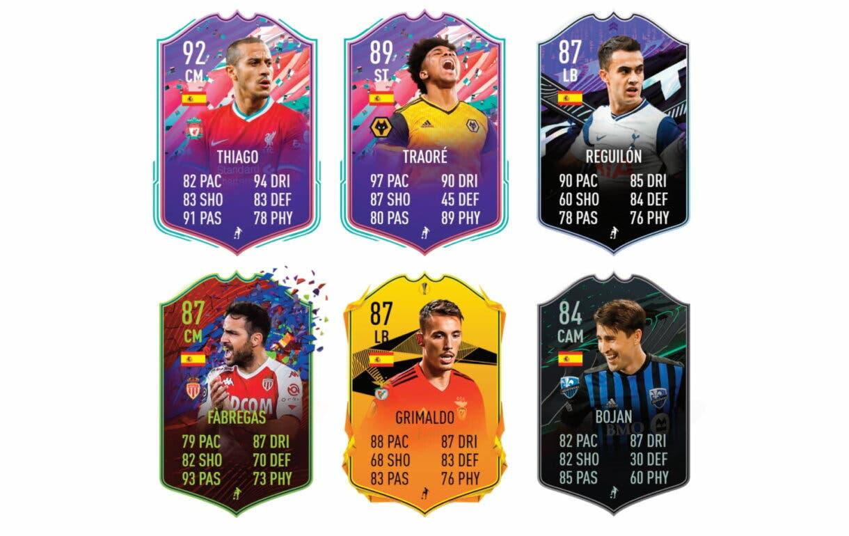 FIFA 21 Ultimate Team Marco Asensio Jugador de Liga links naranjas