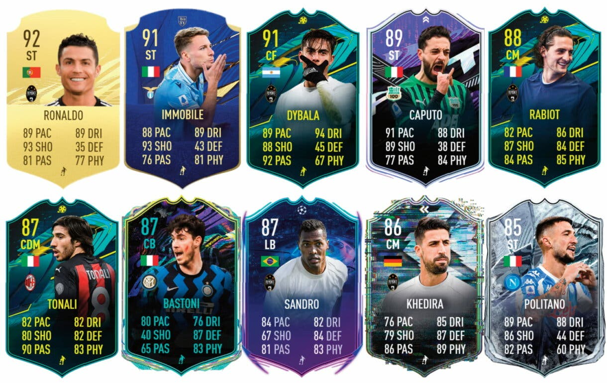 Links verdes de Chiesa TOTS. FIFA 21 Ultimate Team