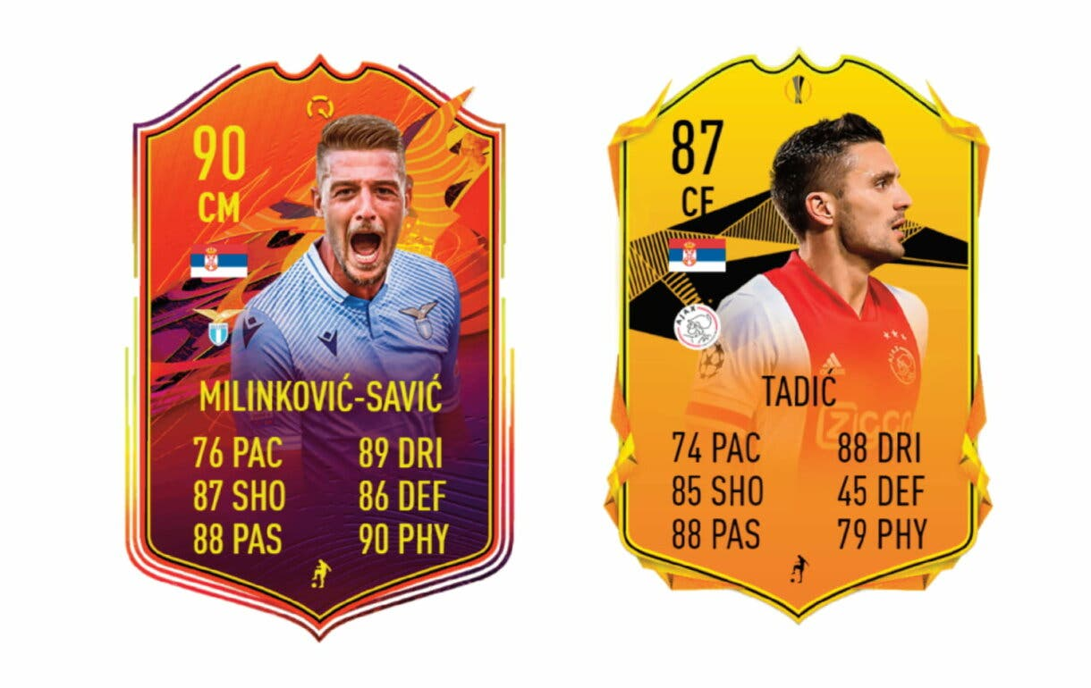 FIFA 21 Ultimate Team links naranjas de Kostic POTM