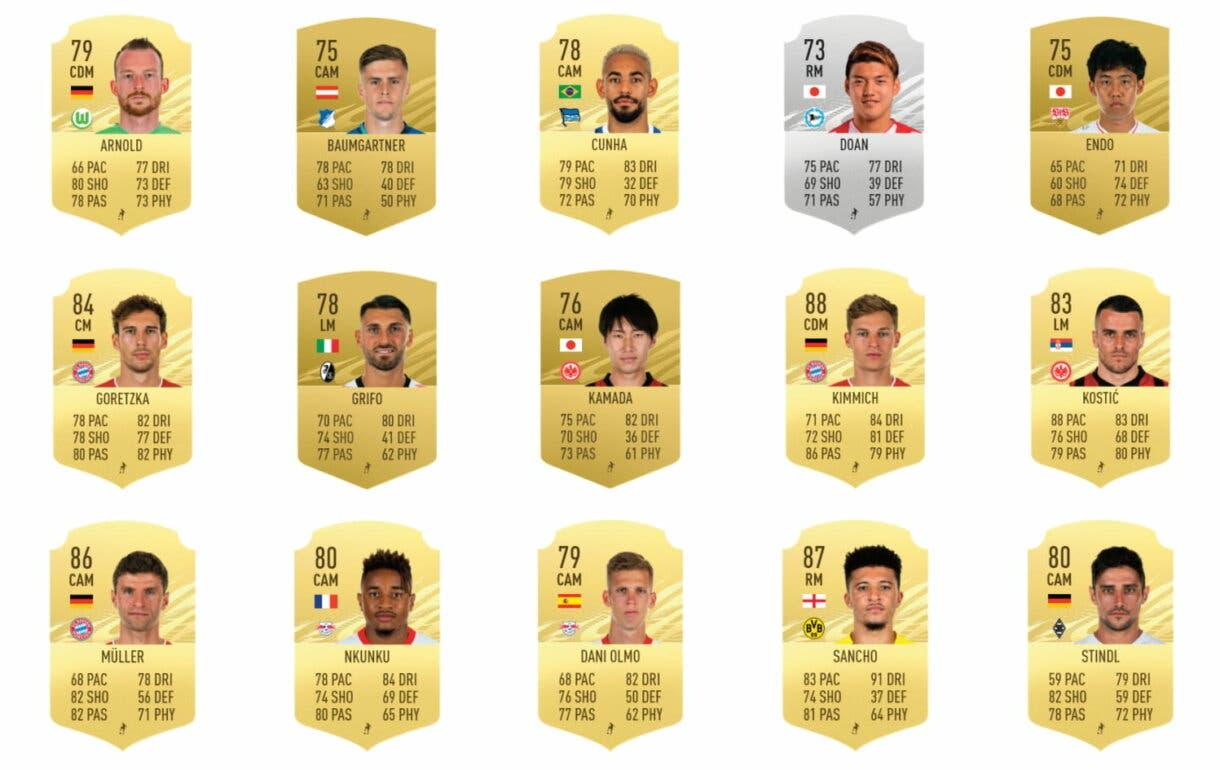 FIFA 21 Ultimate Team TOTS Bundesliga candidatos centrocampistas