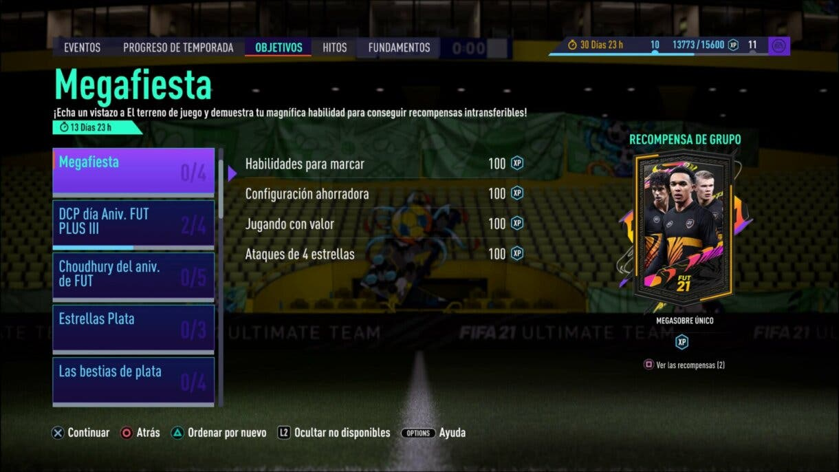 FIFA 21 Ultimate Team Megasobre gratuito FUT Birthday Megafiesta torneo free to play pack