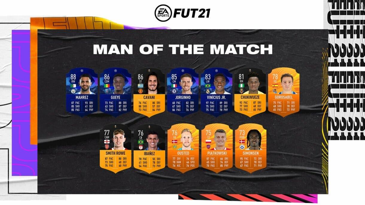 Nueva tanda de cartas MOTM FIFA 21 Ultimate Team
