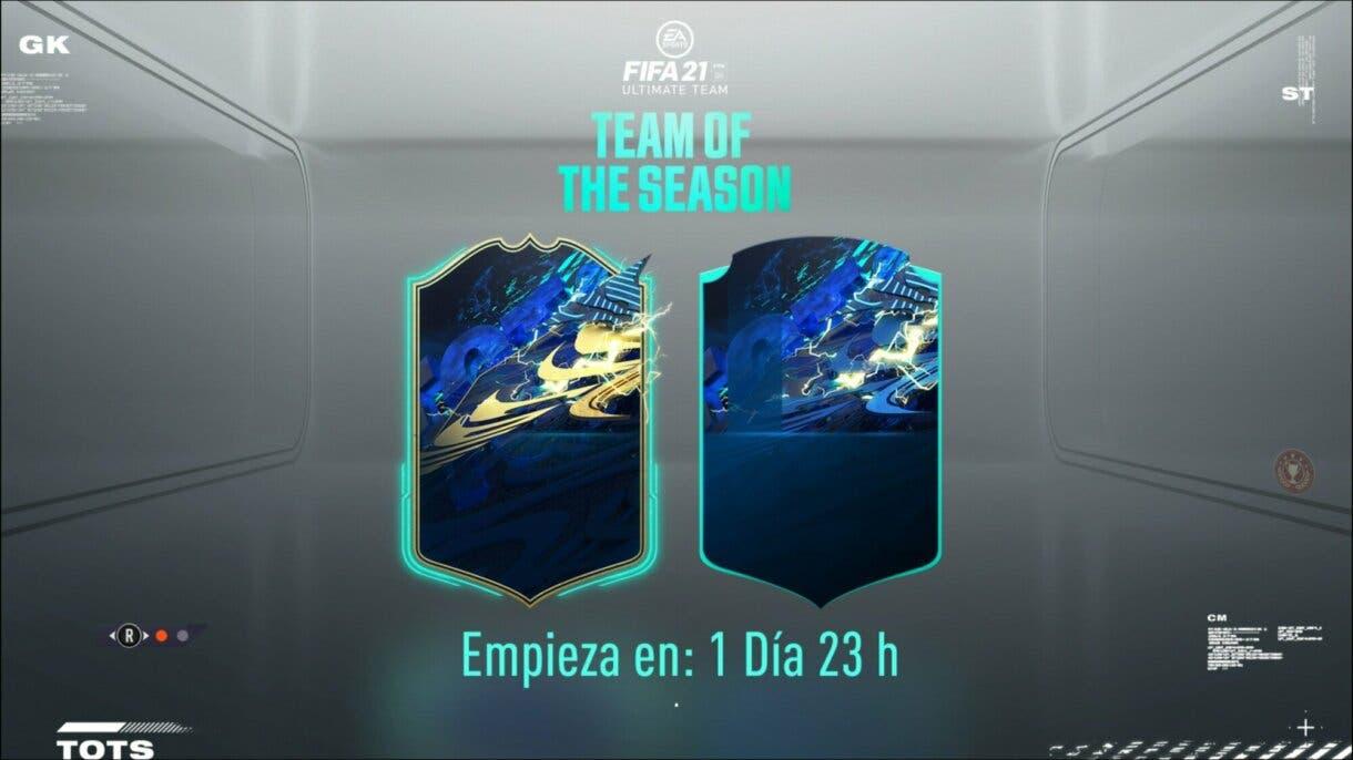 FIFA 21 Ultimate Team TOTS Equipo de la Semana pantalla de carga
