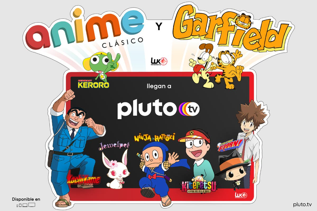 Pluto TV canal anime y Garfield