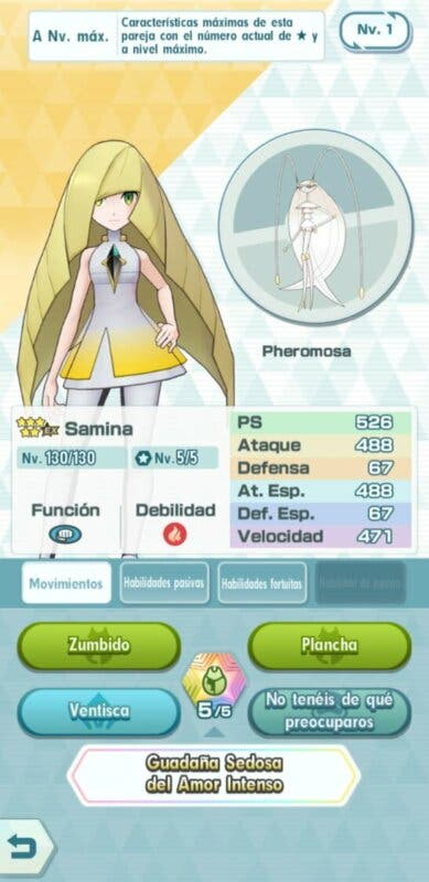 Pokemon Masters EX Samina Pheromosa