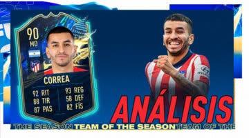 Imagen de FIFA 21: análisis de Correa TOTS gratuito. ¿Una carta imprescindible para la Liga Santander?